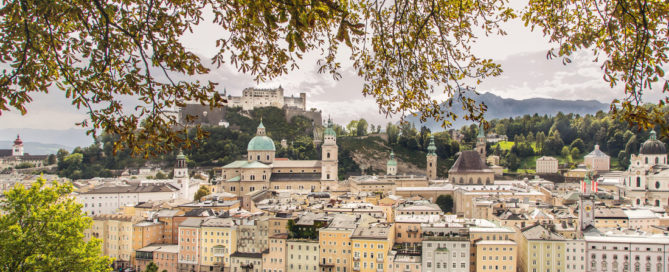 old town view of Salzburg