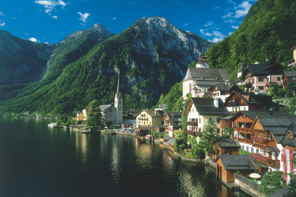 Hallstatt view from the lake