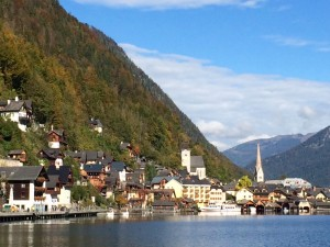 Hallstatt village view