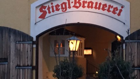 Entrance to Stiegl brewery