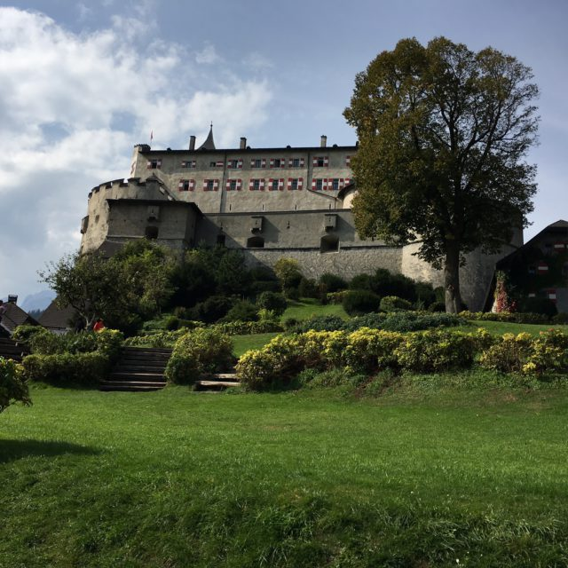 Fortress of Werfen garden