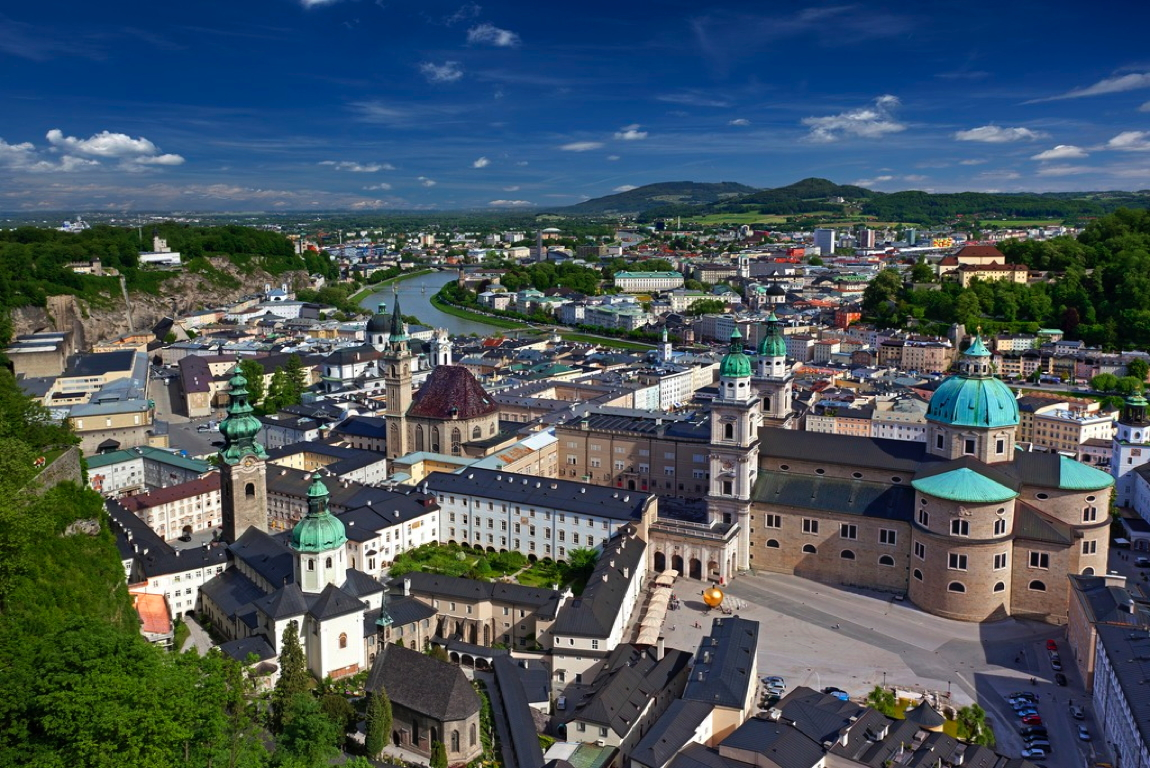 view over the city of Salzburg