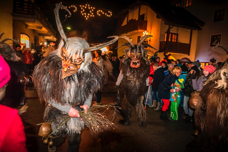 Krampus tradition in Austria